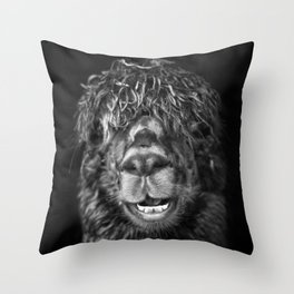Alpaca. Happy Dayz Throw Pillow