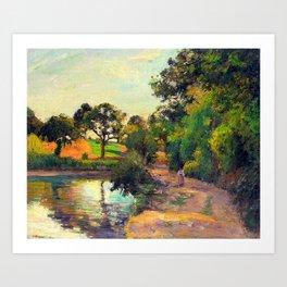 Bridge at Montfoucault by Camille Pissarro Art Print