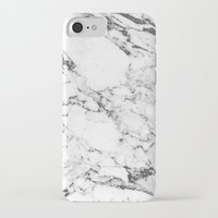 white marble iPhone & iPod Cases featuring Marble by MatiasMilton
