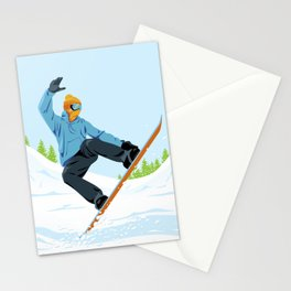 Snowboarder Stationery Cards