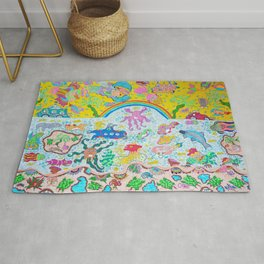 Supersonic Key West Blast Rug