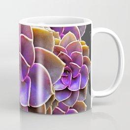 PURPLE-CREAM SUCCULENT ROSETTES Coffee Mug