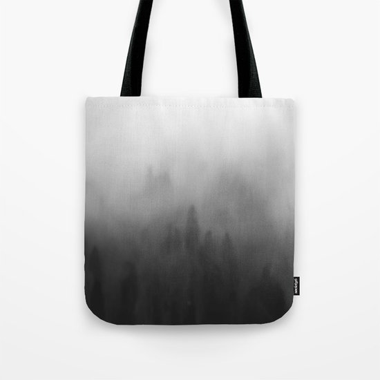 Foggy forrest Tote Bag