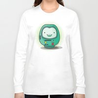 bmo Long Sleeve T-shirts featuring Daruma: BMO by Monstruonauta