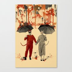 Skeleton Rain Canvas Print