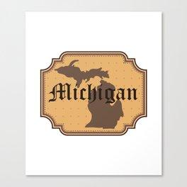 Michigan Retro Vintage Canvas Print