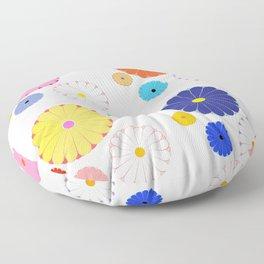HOMEMADE JAPANESE FLOWER PATTERN Floor Pillow