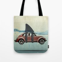 vw Tote Bags featuring VW soup by Vin Zzep
