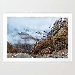 Patagonian Highway, Los Lagos, Chile Art Print