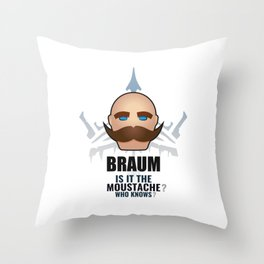Braum w/ quote Throw Pillow