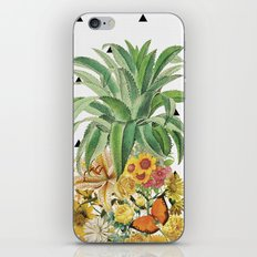 Pineapple Floral iPhone & iPod Skin