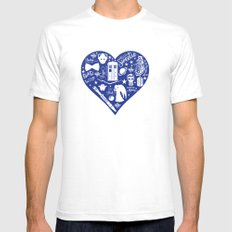 Doctor Who Love Mens Fitted Tee White SMALL