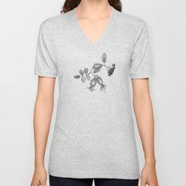 rosehip, chokeberries and teasel Unisex V-Neck