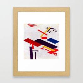 Kazimir Malevich House Under Construction Framed Art Print