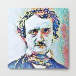 Portrait of Edgar Allan Poe 2. Metal Print