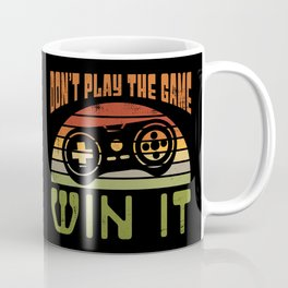 Don't Play The Game Win It - Vintage Gamer Gift Coffee Mug
