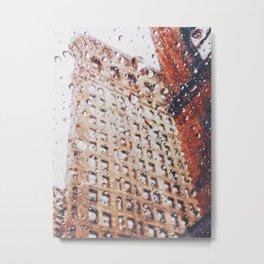 New York City Rain Metal Print