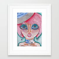 poker Framed Art Prints featuring poker face by Scenccentric Creations