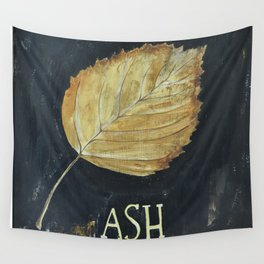 Hand-Painted Fall Ash Leaf Wall Tapestry