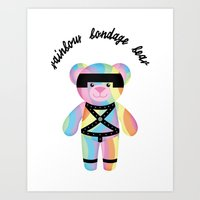 Classic Rainbow Bondage Bear Full 2.0 Art Print