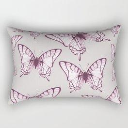 butterfly pattern in purple Rectangular Pillow