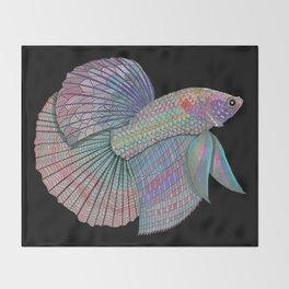 A Beautiful Betta Fish Throw Blanket