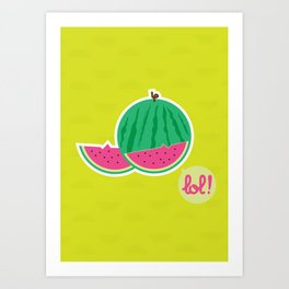 Watermelon - CosmoLOL!icious Art Print
