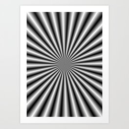 32 Rays in Black and White Art Print
