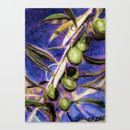 CRAYON LOVE - Olivebranch Canvas Print