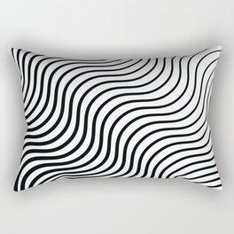 Whiskers - Black #399 Rectangular Pillow