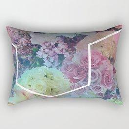 Floral Hexagon Rectangular Pillow