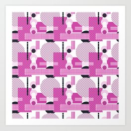 SSPOTS AND BOXX - Polka Dot, Kitsch, Circle, Pink, Sweet, Cute, Pop Art Art Print