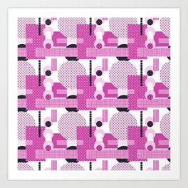 SSPOTS AND BOXX - Polka Dot, Kitsch, Circle, Pink, Sweet, Cute, Pop Art Art Print