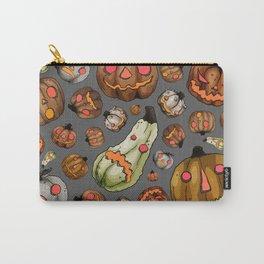 Halloween Pumpkins, a Cornucopia of Jack o' lanterns. spoopy Carry-All Pouch