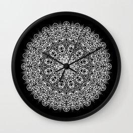 Manadala No. 1 (white) Wall Clock