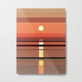 Abstract and geometric landscape 03 Metal Print
