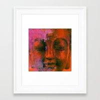 meditation Framed Art Prints featuring Meditation by zAcheR-fineT