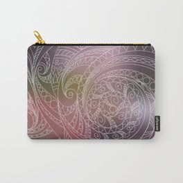 transparent zen spiral pattern 1 on the gradient Carry-All Pouch