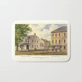 New York 1808, Broadway & Courtland St., Alderman Bogert's Bakery and Manasseh Salter's Store Bath Mat