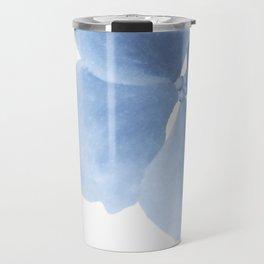 Pansy Flower. Big blue flower Travel Mug