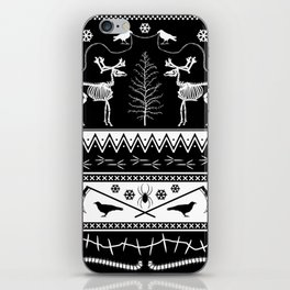 something to crow about ugly holiday sweater iPhone Skin