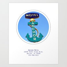 Anchor Motel Poster Art Print