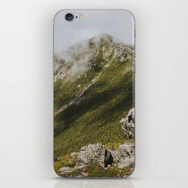Summer days on the Franconia Ridge iPhone Skin