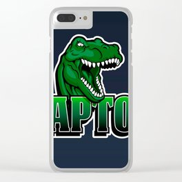 cartoon raptor Clear iPhone Case