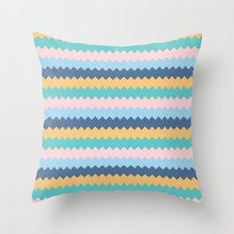 Pastel Seamless Chevron Throw Pillow