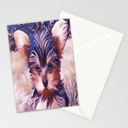 A Cute Teacup Yorkie Stationery Cards