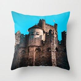 Gravensteen Ghent Castle Throw Pillow