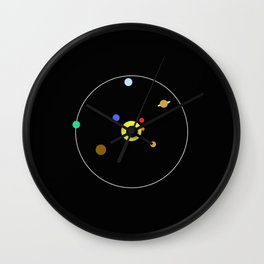 Solar System - Minimalism Abstract Pastel Colours Wall Clock