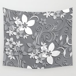 Flowers wall paper 3 Wall Tapestry