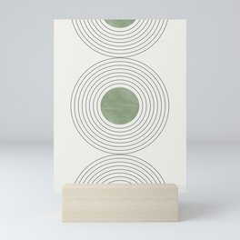 Fresh Pattern, Green Circle Mini Art Print